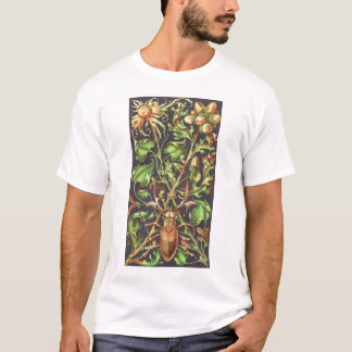Horned Beetle in Brown T-Shirt
