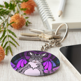 horned bunny key chain