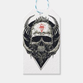 Horned Devil Skull Gift Tags