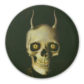 Horned Devil Skull Halloween Knob