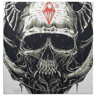 Horned Devil Skull Napkin