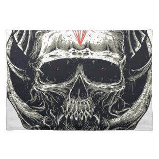Horned Devil Skull Placemat