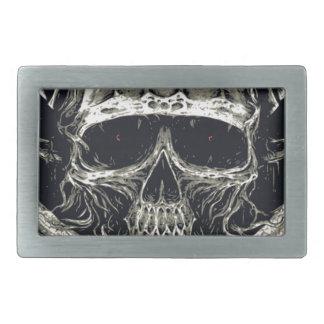 Horned Devil Skull Rectangular Belt Buckles