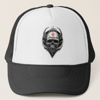 Horned Devil Skull Trucker Hat