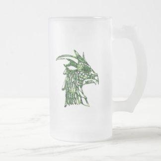 Horned Dragon Frosted Beer Mug