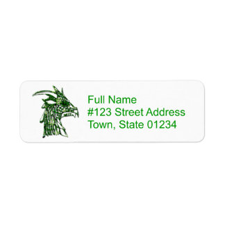 Horned Dragon Return Address Label