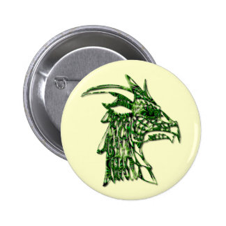 Horned Dragon Round Pin