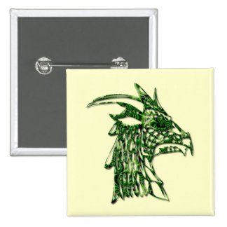 Horned Dragon Square Pin
