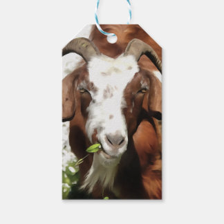 Horned Goat Grazing Gift Tags