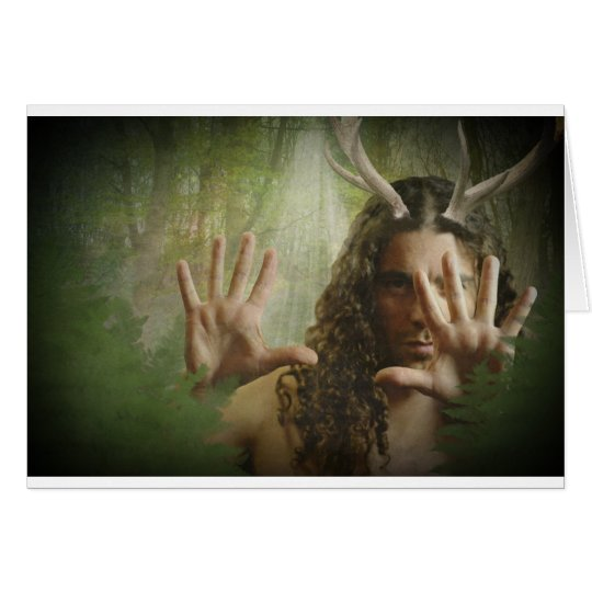 Horned God Forest Card