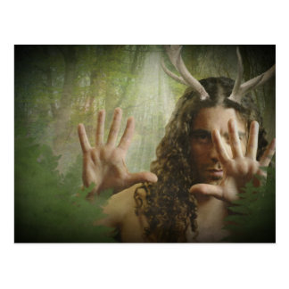 Horned God Forest Postcard