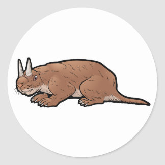 Horned Gopher Classic Round Sticker