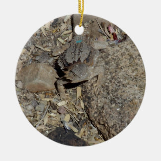 Horned Lizard Ceramic Ornament
