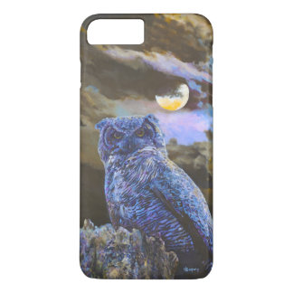 Horned Owl at Night Acrylic Painting iPhone 7 Plus iPhone 8 Plus/7 Plus Case