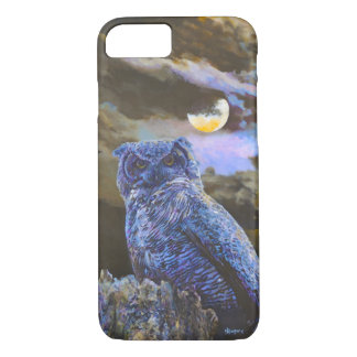 Horned Owl at Night by Steve Berger iPhone 7 case