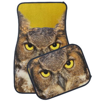 Horned Owl Face Car Mat Full Set