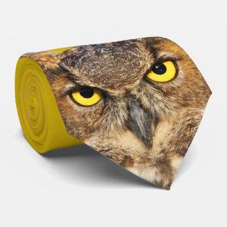 Horned Owl Face Tie