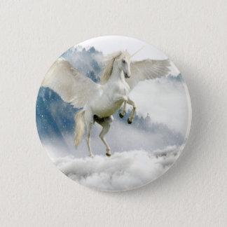 Horned Pegasus 6 Cm Round Badge
