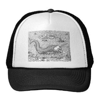 Horned Sea Serpent Trucker Hats