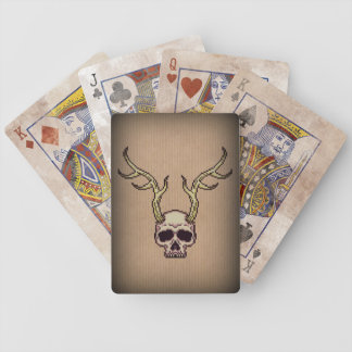 Horned Skull Bicycle® Playing Cards