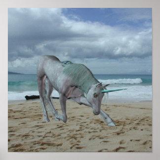 Horned Unicorn  Poster