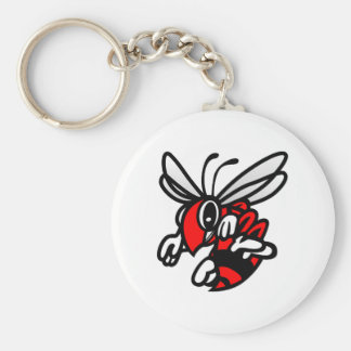 Hornets Basic Round Button Key Ring