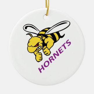 HORNETS CERAMIC ORNAMENT