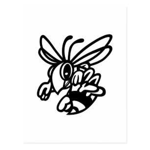hornets postcards zazzle au 1951 Hudson Hornet Going Lift hornets outline postcard