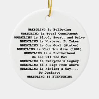 Hornets Wrestling is Everything Christmas Ornament