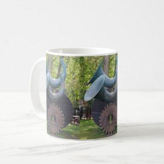 Horns & Gear White Coffee Mug