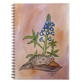 Horny Toad with Bluebonnet Notebook