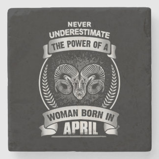 Horoscope April Stone Coaster