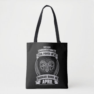 Horoscope April Tote Bag