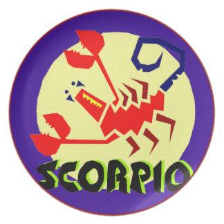 Horoscope Astrological Zodiac Sign Scorpio Plate