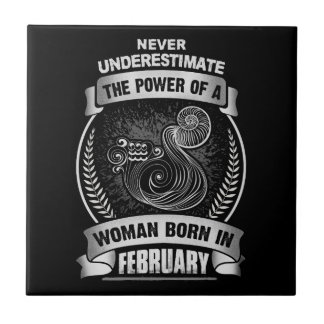 Horoscope February Ceramic Tile