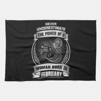 Horoscope February Tea Towel