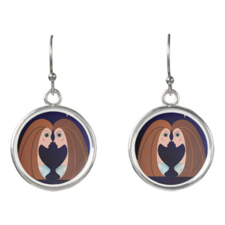 Horoscope Gemini Twins Symbol Sign Earrings