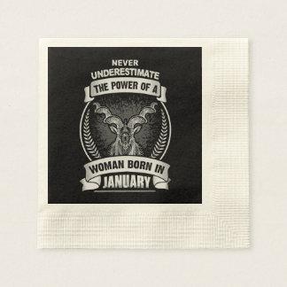 Horoscope January Disposable Serviette