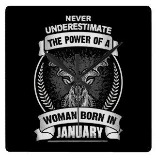 Horoscope January Square Wall Clock