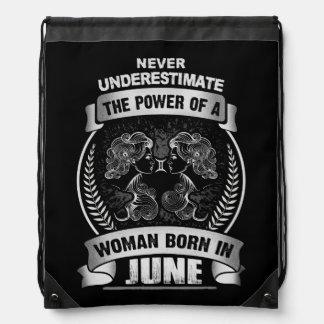 Horoscope June Drawstring Bag