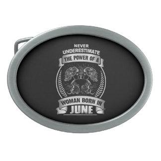 Horoscope June Oval Belt Buckle
