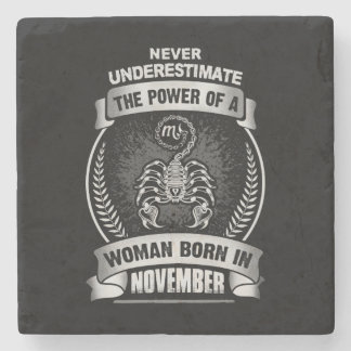 Horoscope November Stone Coaster