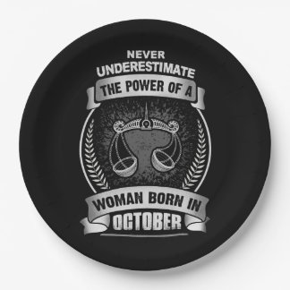 Horoscope October 9 Inch Paper Plate
