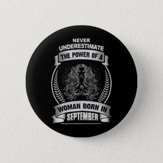 Horoscope September 6 Cm Round Badge