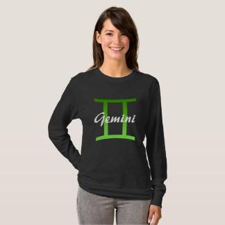 Horoscope Sign Gemini Lime Green Symbol Shirt