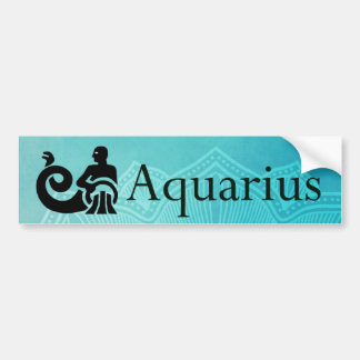 Horoscope Zodiac Aquarius Bumper Sticker
