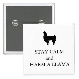 "Horrible Histories ""Harm a Llama"" badge"