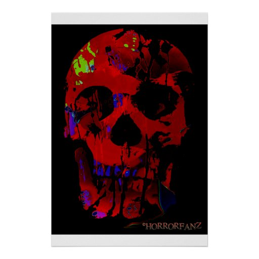 Horrofanz Abstract Skull Poster