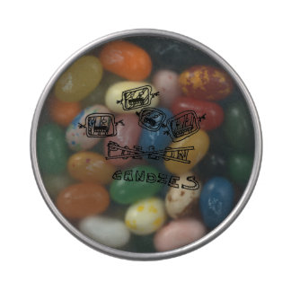 horror clear top candy tin