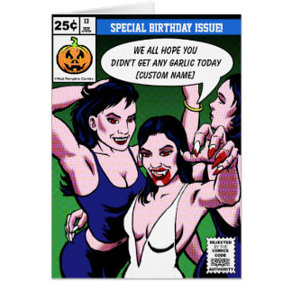 Horror Comic Style Birthday Card